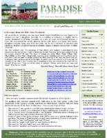 Paradise Newsletter Q2 2013